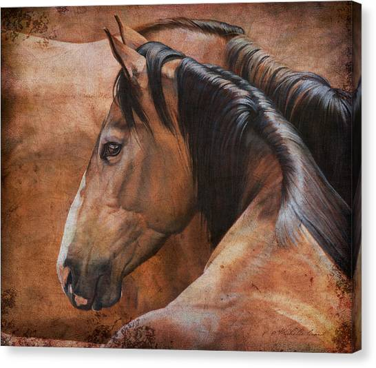 Horse Farms Canvas Print - Almost Dun by JQ Licensing