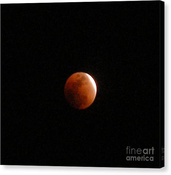 Almost Eclipsed Canvas Print by Sibby S