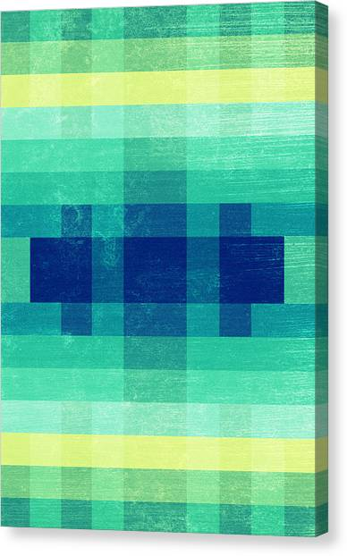Plaid Canvas Print - Almost Spring by VessDSign