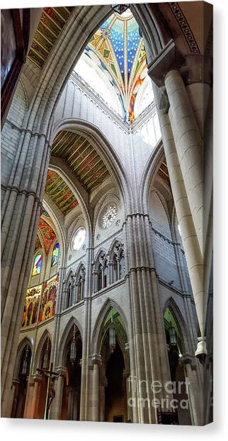 Almudena Cathedral Interior In Madrid Canvas Print