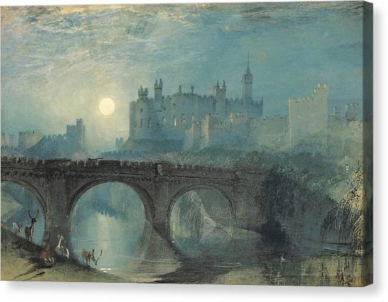 Castle Canvas Print - Alnwick Castle by Joseph Mallord William Turner