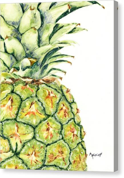 Pineapples Canvas Print - Aloha Again by Marsha Elliott