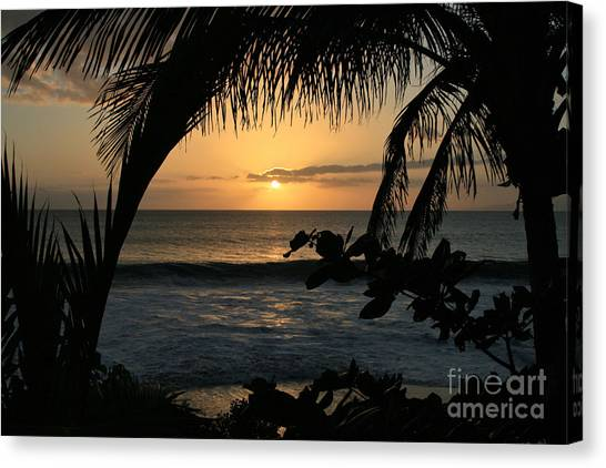 Aloha Aina The Beloved Land - Sunset Kamaole Beach Kihei Maui Hawaii Canvas Print