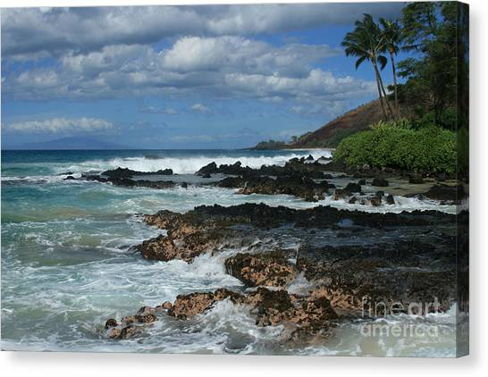 Aloha Island Dreams Paako Beach Makena Secret Cove Hawaii Canvas Print