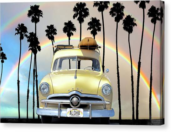 Surfboard Canvas Print - Too Cool For School by Sean Davey