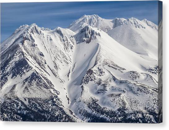 Alone At The Top Canvas Print