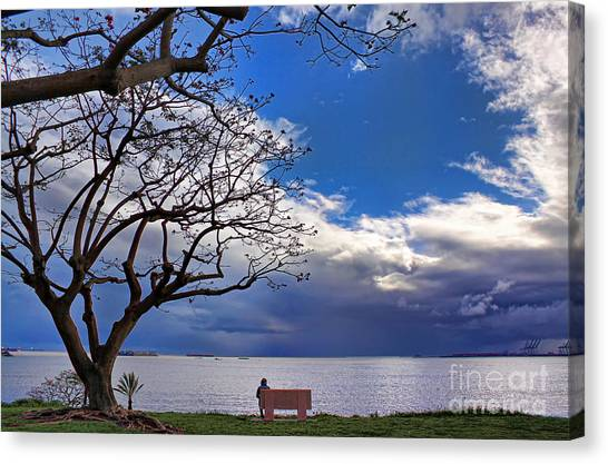 Alone Canvas Print by Hartono Tai