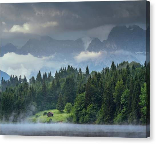 Alone In German Alps Canvas Print
