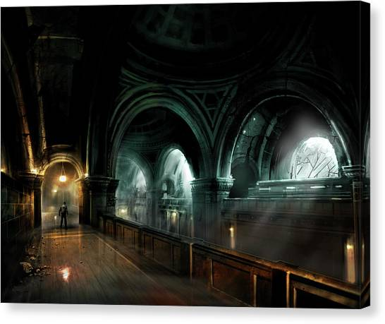 Vault Canvas Print - Alone In The Dark by Maye Loeser