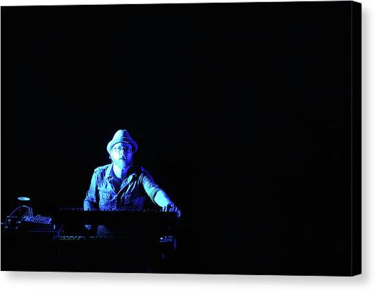 Synthesizers Canvas Print - Alone In The Music by Don Mennig