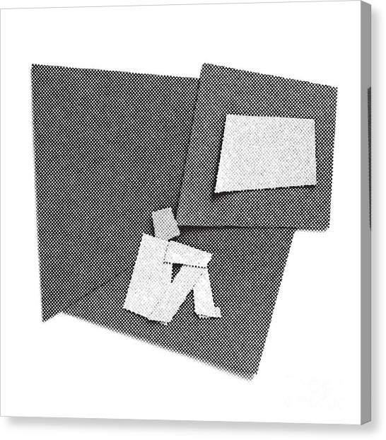 Suprematism Canvas Print - Alone In The Room by Igor Kislev