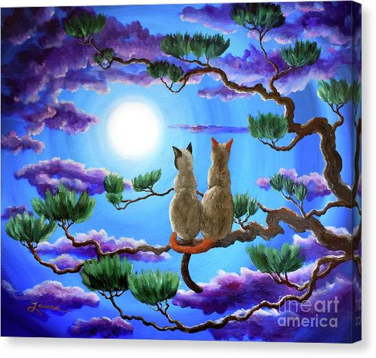 Siamese Canvas Print - Alone In The Treetops by Laura Iverson