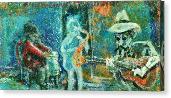 Alone With The Blues Canvas Print