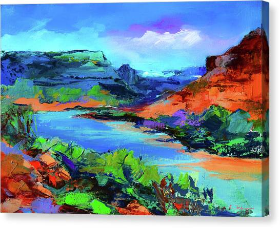 Along Colorado River - Utah Canvas Print