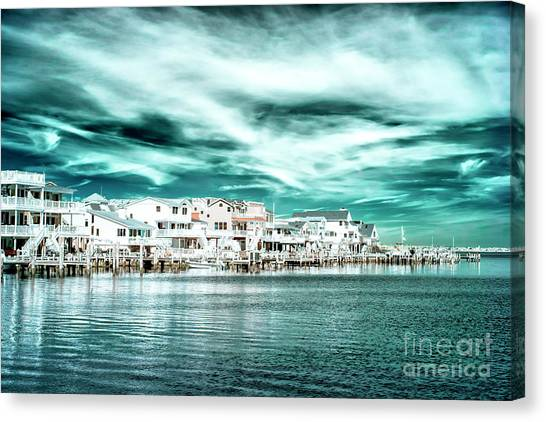 Along The Bay At Long Beach Island Infrared Canvas Print by John Rizzuto