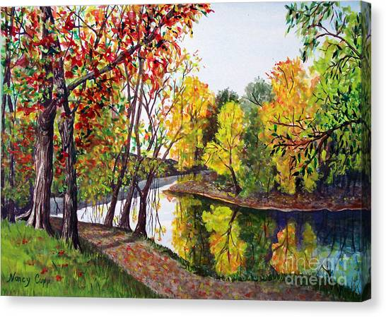 Along The Blanchard Canvas Print
