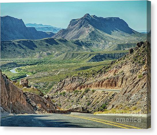 Along The Border Canvas Print