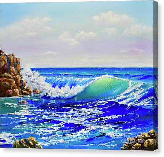 Canvas Print featuring the painting Along The Coast by Mary Scott