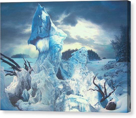 Along The Frozen Lake Canvas Print by James McCarthy