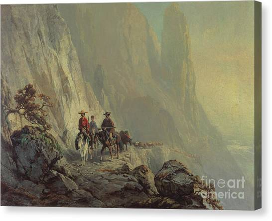 Vertigo Canvas Print - Along The Mountain Edge by Otto Sommer