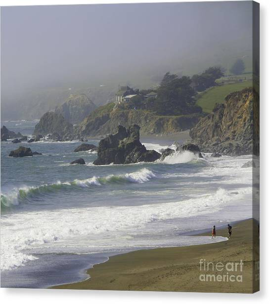 Along The Pacific #2 Canvas Print