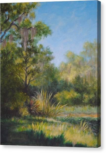 Along The Pond's Edge Canvas Print