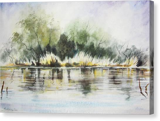 Landscapes Canvas Print - Along The River Banks by Mrutyunjaya Dash