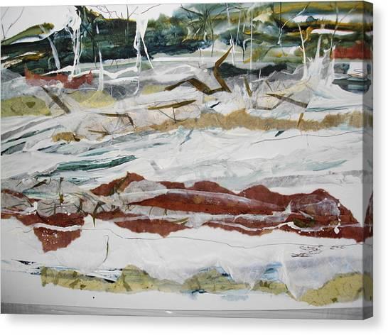 Along The Shore Canvas Print by Linda King