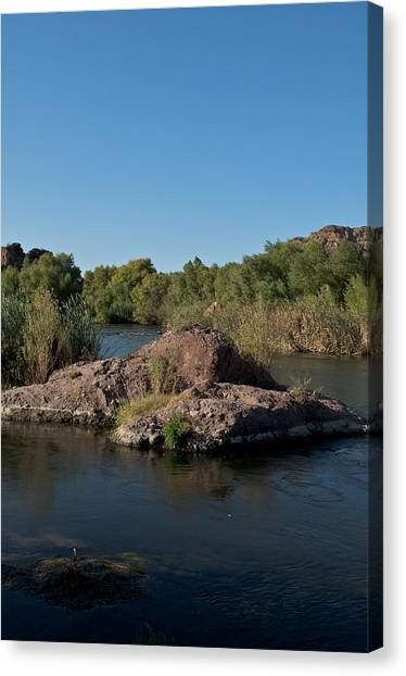 Along The Verde River 3 Canvas Print by Susan Heller