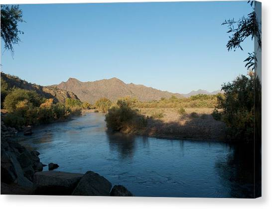 Along The Verde River 4 Canvas Print by Susan Heller