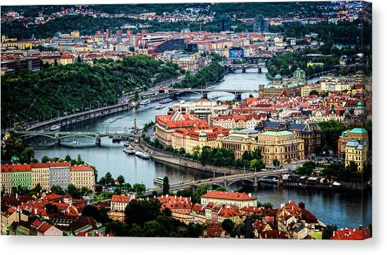 Along The Vltava River Canvas Print