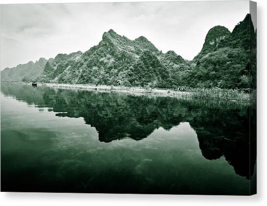 Yen Canvas Print - Along The Yen River by Dave Bowman