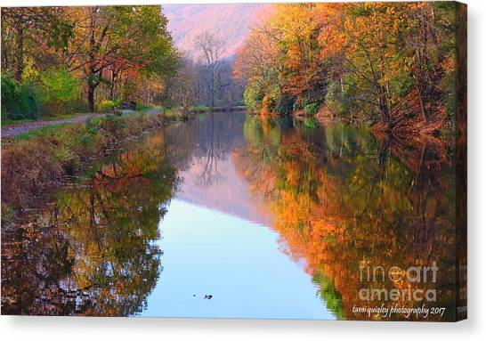 Along These Autumn Days Canvas Print