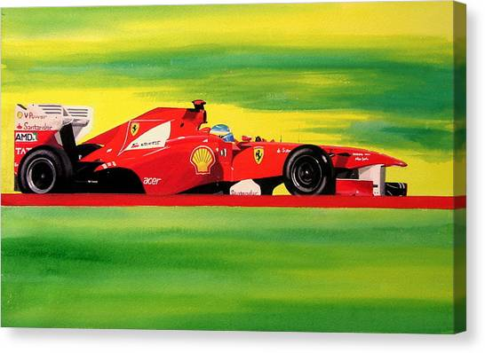Alonso Ferrari Watercolour Canvas Print
