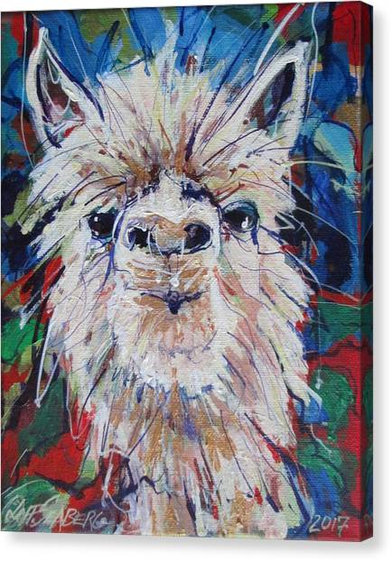 Alpaca Crazed Canvas Print