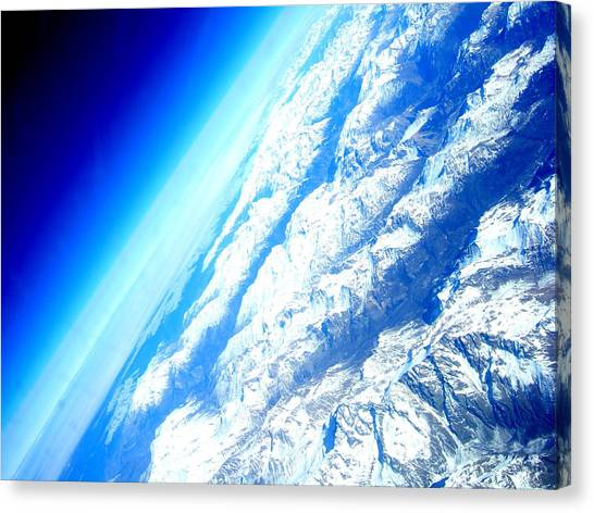 Alpen From Sky Canvas Print
