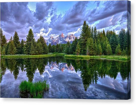 Alpenglow In The Tetons Canvas Print