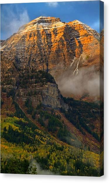 Alpenglow On Mt. Timpanogos Canvas Print