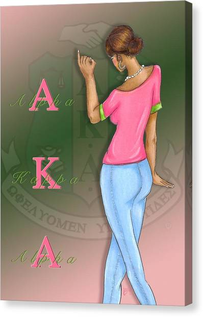 Alpha Kappa Alpha Canvas Print - Alpha Kappa Alpha by BFly Designs