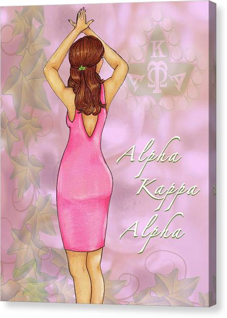 Alpha Kappa Alpha Canvas Print - Alpha Kappa Alpha - Pink Essence by BFly Designs