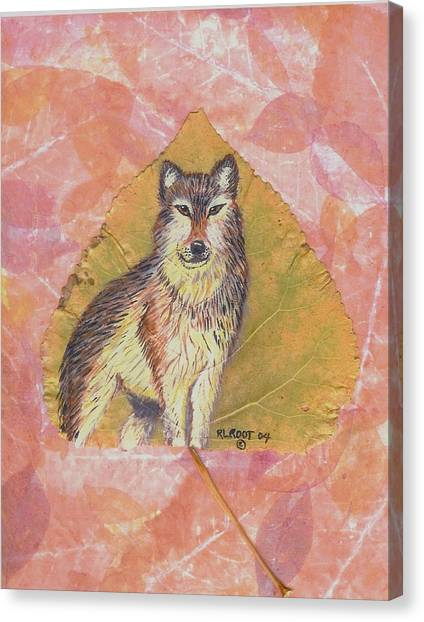 Alpha Male On Natural Leaf Canvas Print