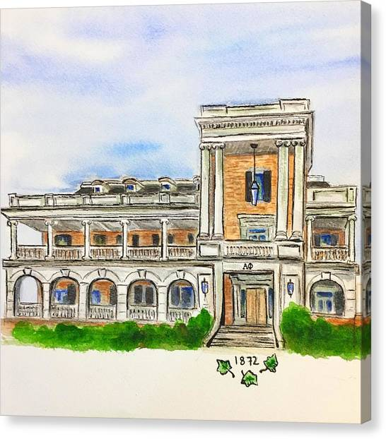 Alpha Phi Canvas Print - Alpha Phi by Starr Weems