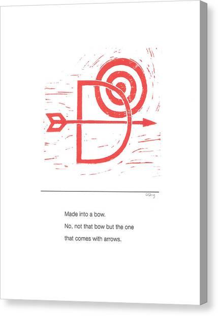 Alphabet Haiku Letter D Canvas Print