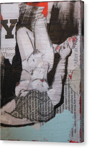 Alphabet Nude Y Canvas Print by Joanne Claxton