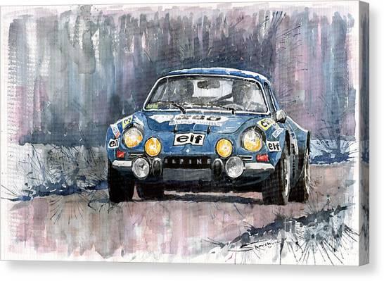 Watercolour Canvas Print - Alpine A 110 by Yuriy Shevchuk