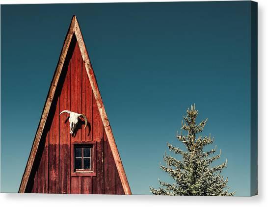 Framed Canvas Print - Alpine A-frame by Humboldt Street