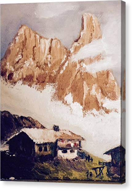 Alpine Home  Canvas Print