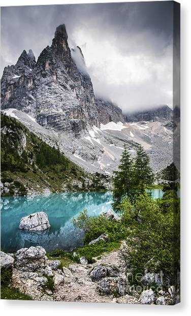 Lake Canvas Print - Alpine Lake by Yuri San
