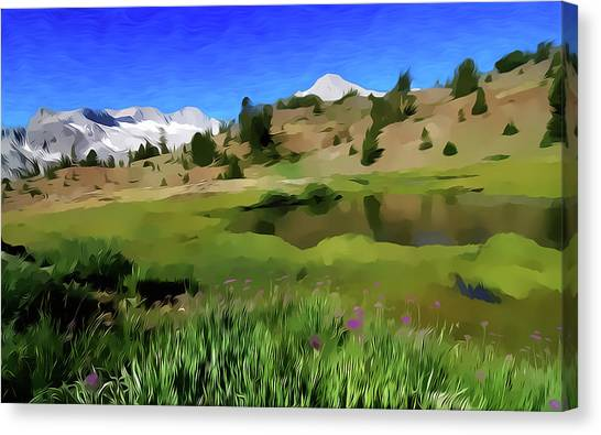 Alpine Meadow By Frank Lee Hawkins Canvas Print