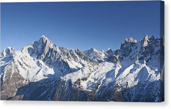 Ice Climbing Canvas Print - Alpine Panorama by Pat Speirs
